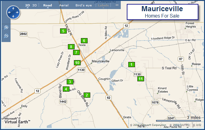 Mauriceville map