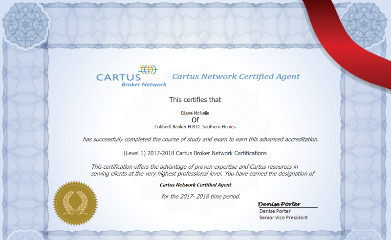 Cartus Certification